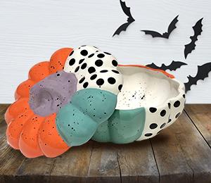 Brea Color Block Pumpkin