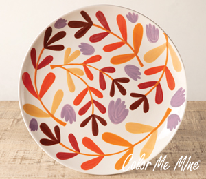 Brea Fall Floral Charger