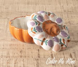 Brea Floral Pumpkin Box